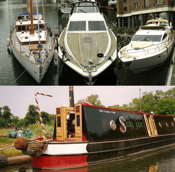 Narrowboat, yacht and motor cruisers